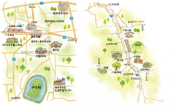 関西周辺イラストマップ