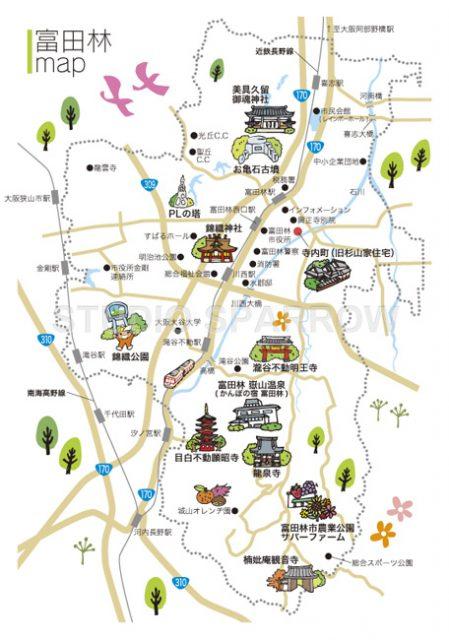 富田林市イラストマップを制作いたしました。