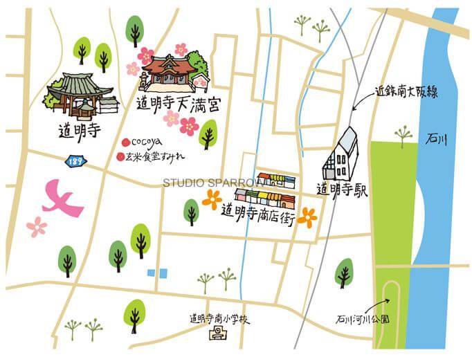 藤井寺市イラストマップ