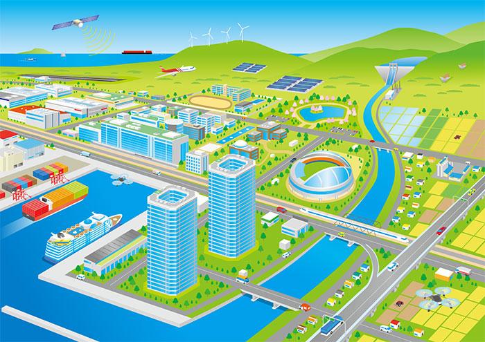 街や都市のイラスト制作ならスタジオスパロウにお任せください!